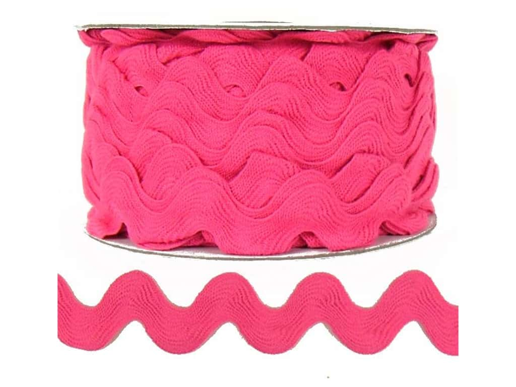 Cheep Trims Ric Rac 1 in. Bright Pink (24 yards)