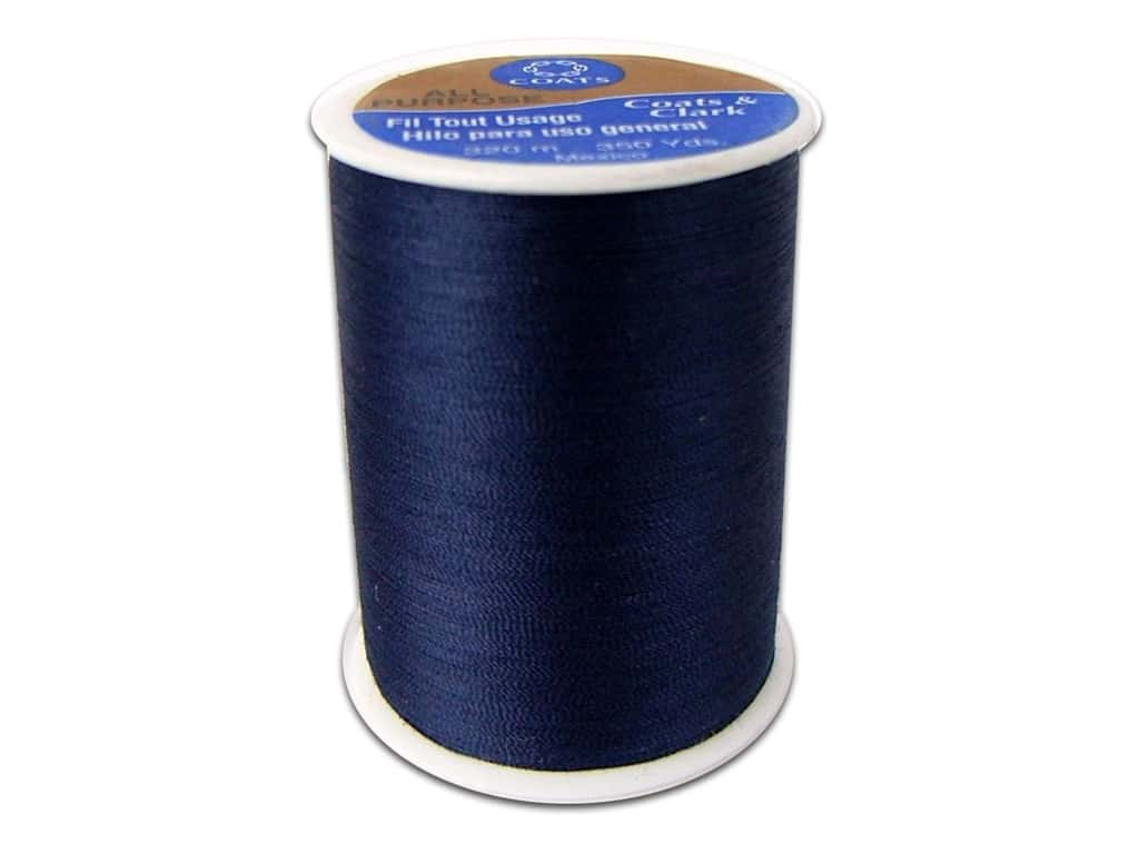 Coats & Clark All Purpose Polyester Thread 350 yd. Navy (12 spools)