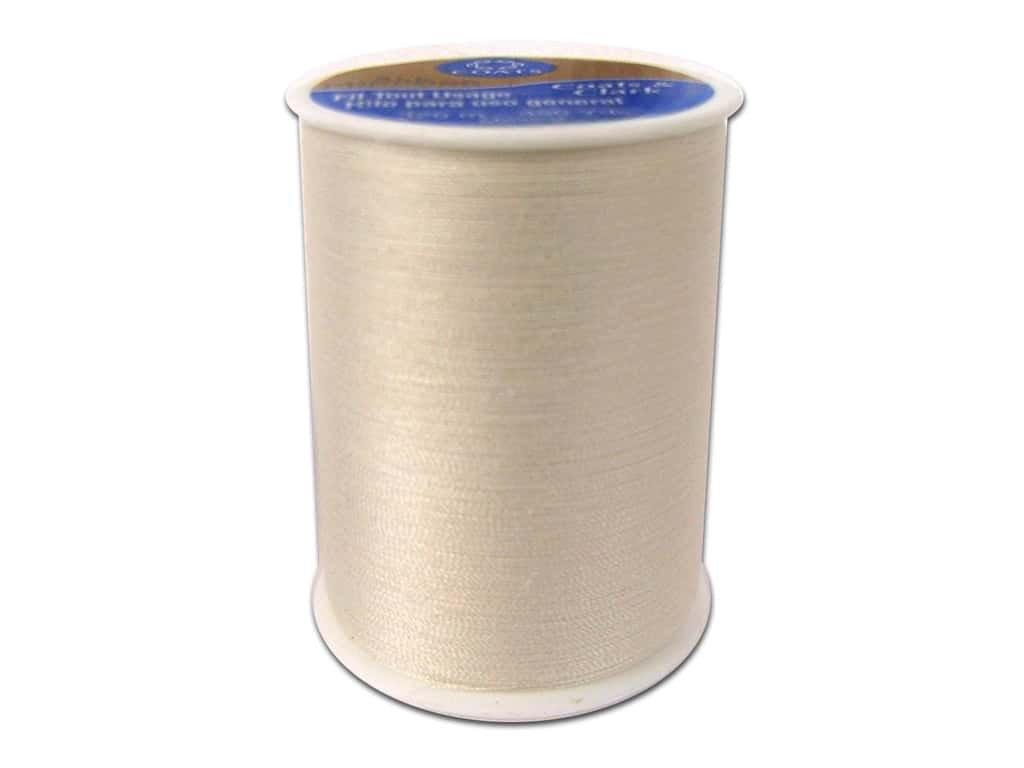 Coats & Clark All Purpose Polyester Thread 350 yd. Natural (12 spools)