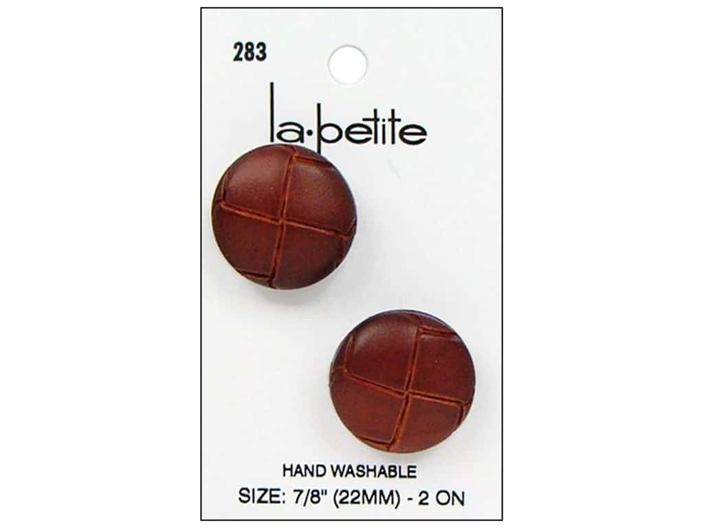 LaPetite Shank Buttons 7/8 in. Leather Natural #283 2 pc.