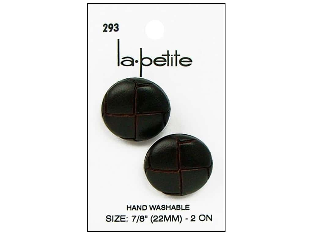 LaPetite Shank Buttons 7/8 in. Leather Brown #293 2pc.