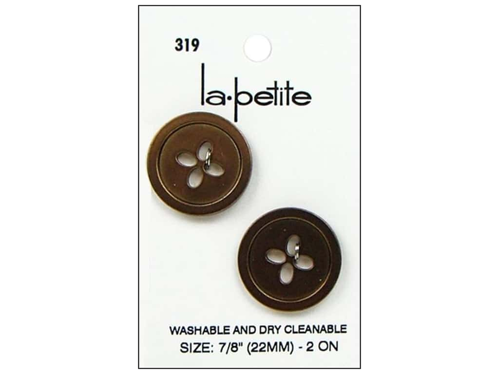 LaPetite 4 Hole Buttons 7/8 in. Copper #319 2pc.