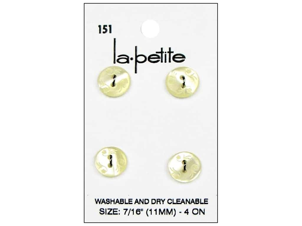 LaPetite 2 Hole Buttons 7/16 in. Ivory #151 4 pc.