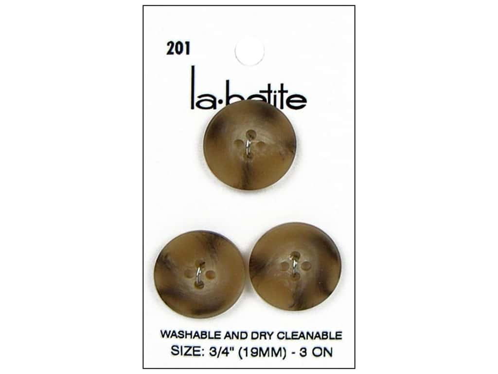 LaPetite Buttons - 4 Hole - 3/4 in. Tan 3 pc.