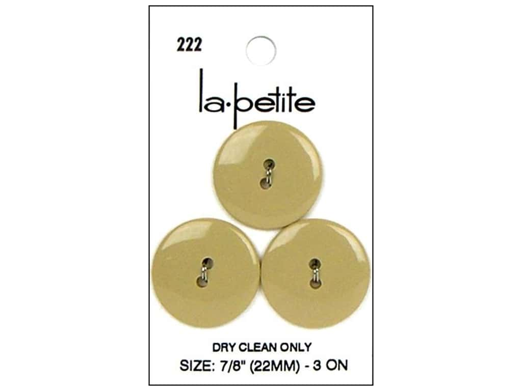 LaPetite Buttons - 2 Hole - 7/8 in. Tan 2 pc.