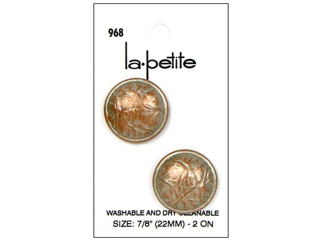 LaPetite Shank Buttons 7/8 in. Silver/ Copper #968 2 pc.