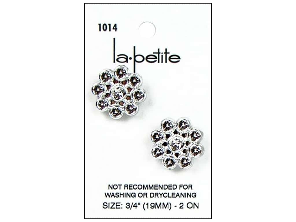 LaPetite Buttons - Shank - 3/4 in. Silver 2 pc.