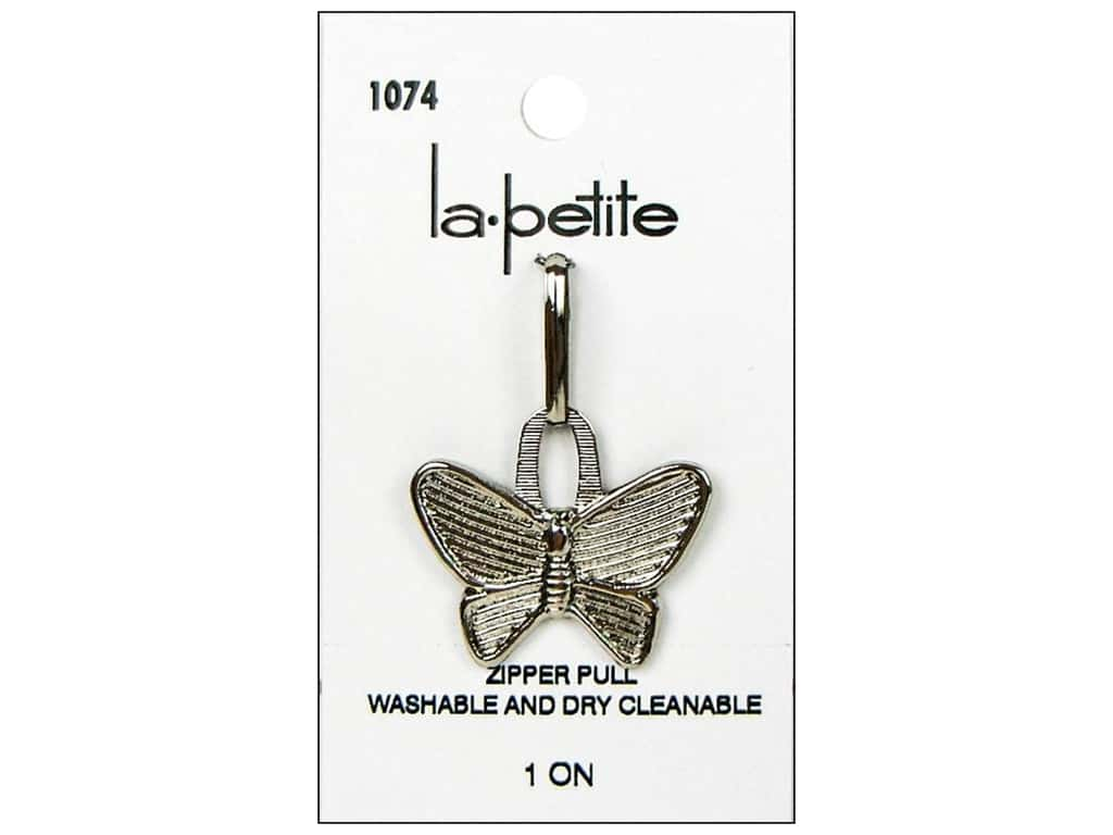 LaPetite Zipper Pull Silver Butterfly #1074 1pc.