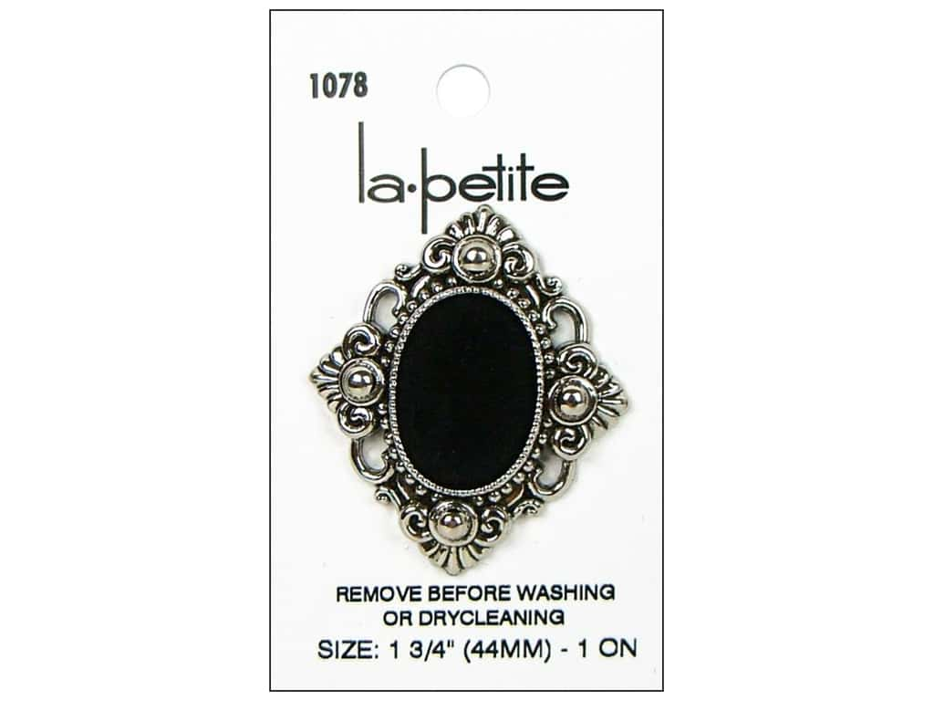 LaPetite Shank Buttons 1 3/4 in. Antique Silver/Black #1078 1 pc.