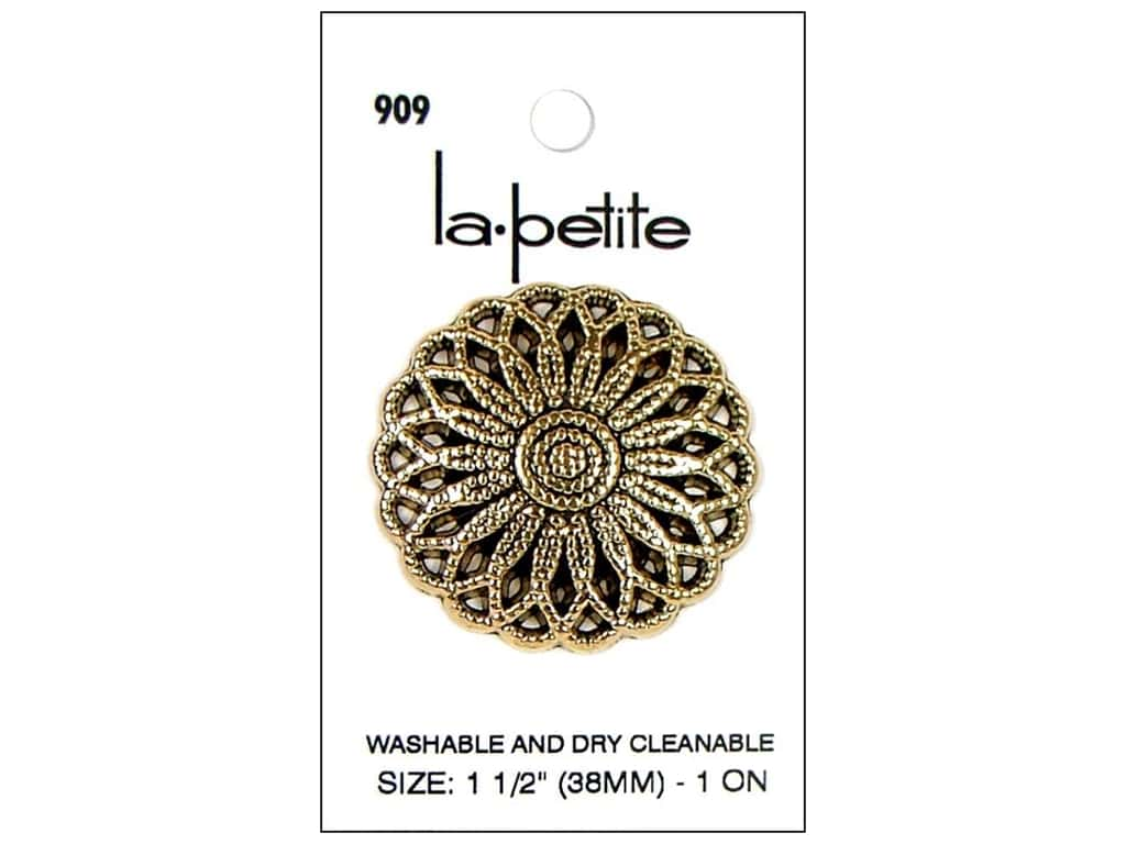 LaPetite Buttons 1 1/2 in. Antique Gold #909 1pc.