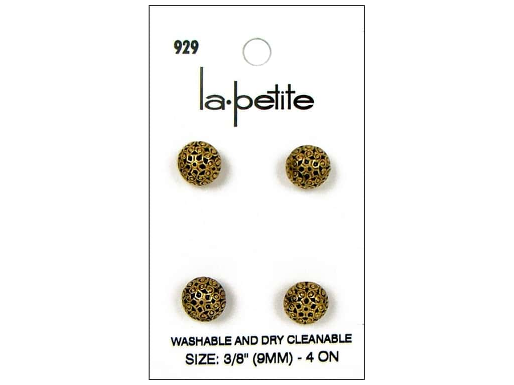LaPetite Shank Buttons 3/8 in. Antique Gold #929 4pc.