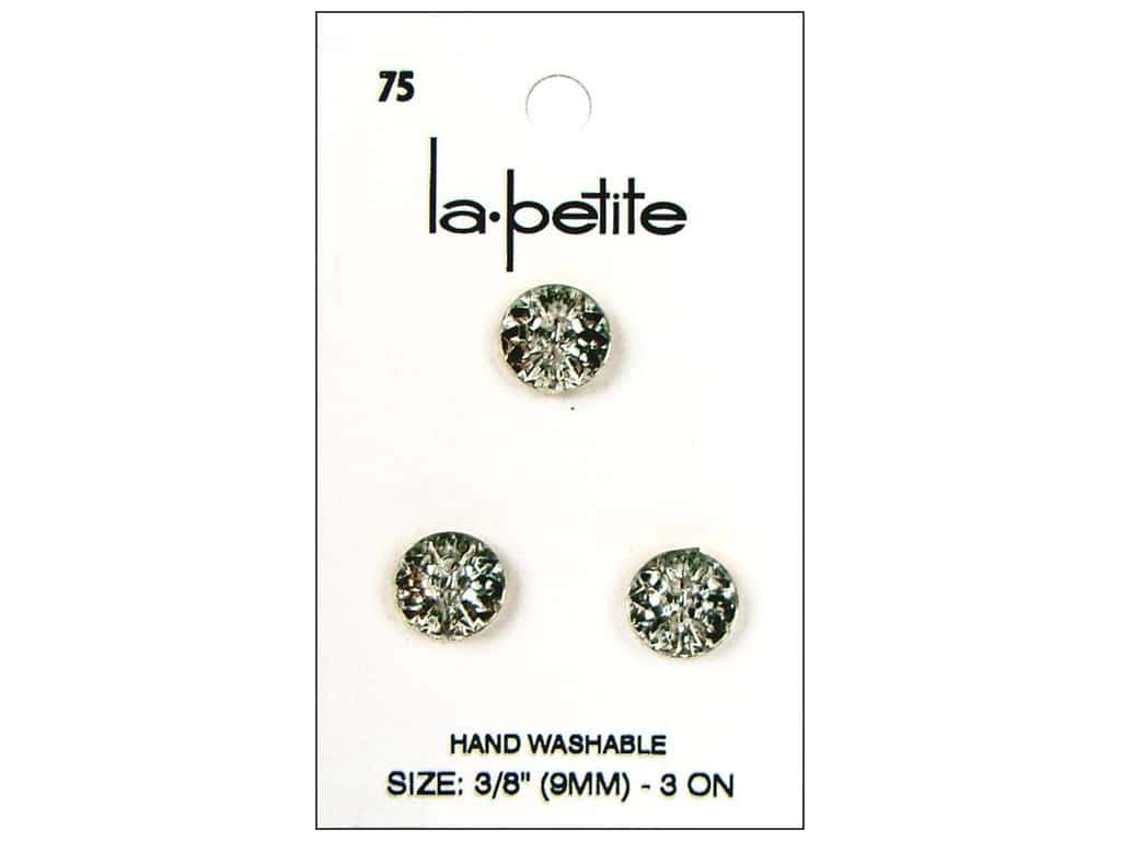LaPetite 2 Hole Buttons 3/8 in.Crystal #75 3 pc.