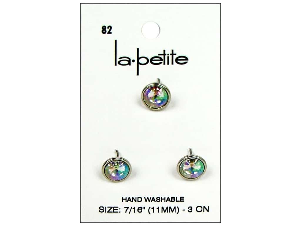 LaPetite Shank Buttons 7/16 in. Crystal #82 3 pc.
