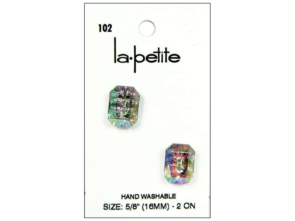 LaPetite Buttons - 2 Hole - 5/8 in. Crystal 2 pc.