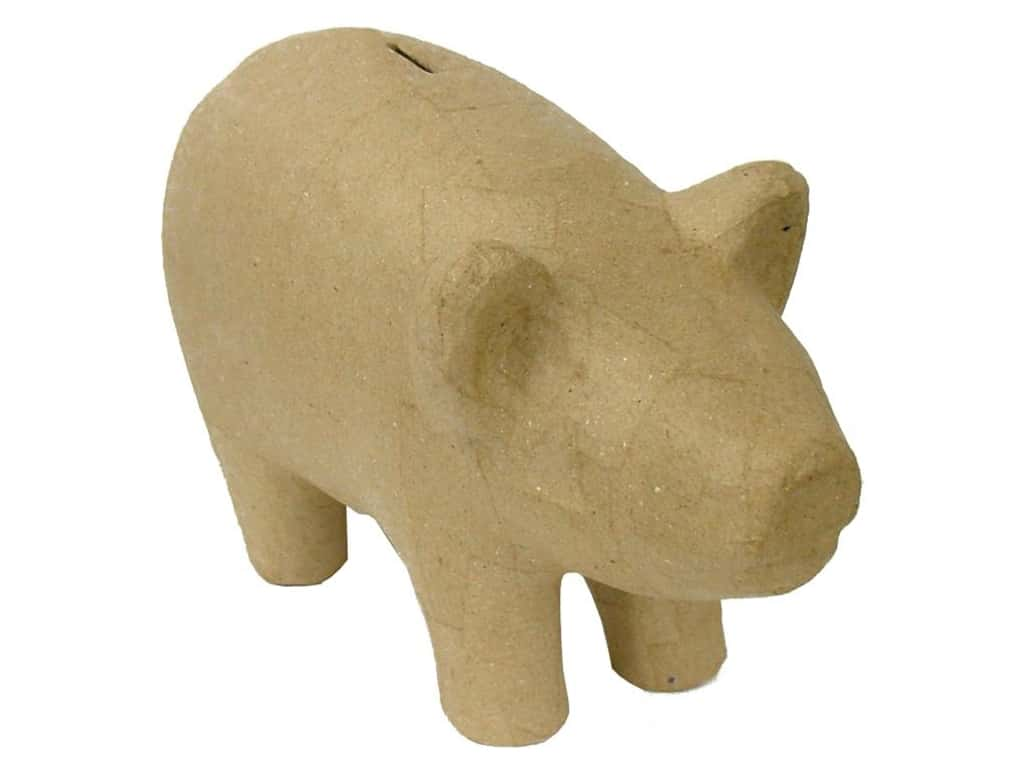 PA Paper Mache Pig Bank 10 1/2 in. (6 pieces)