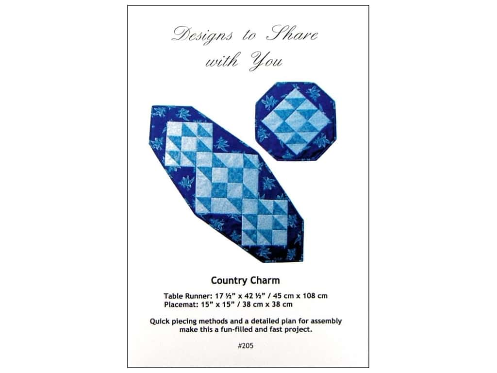 Designs To Share Ursula Riegel Country Charm Pattern