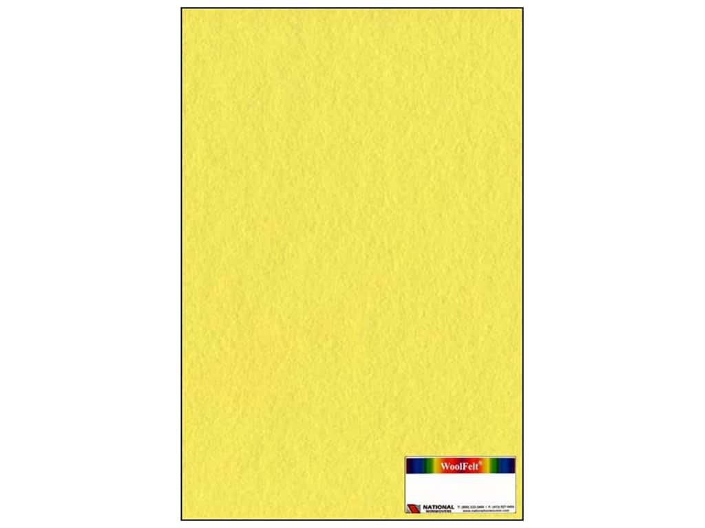 National Nonwovens 20% Wool Felt 12 x 18 in. Banana Cream (10 sheets)