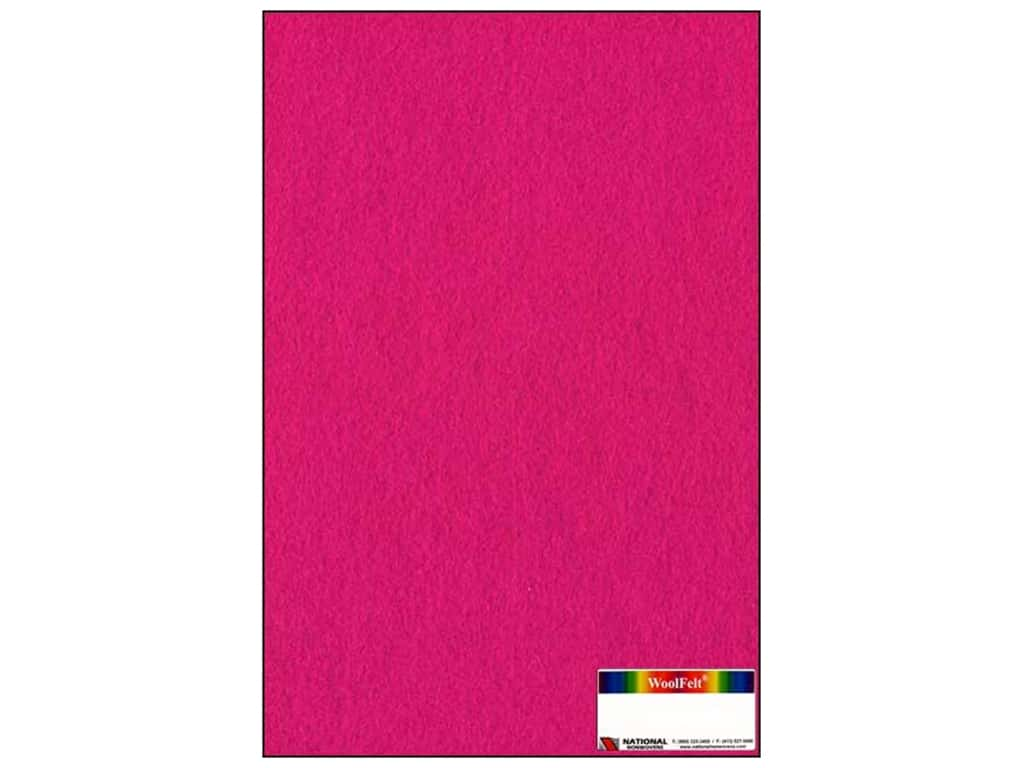 National Nonwovens 20% Wool Felt 12 x 18 in. Fuchsia (10 sheets)