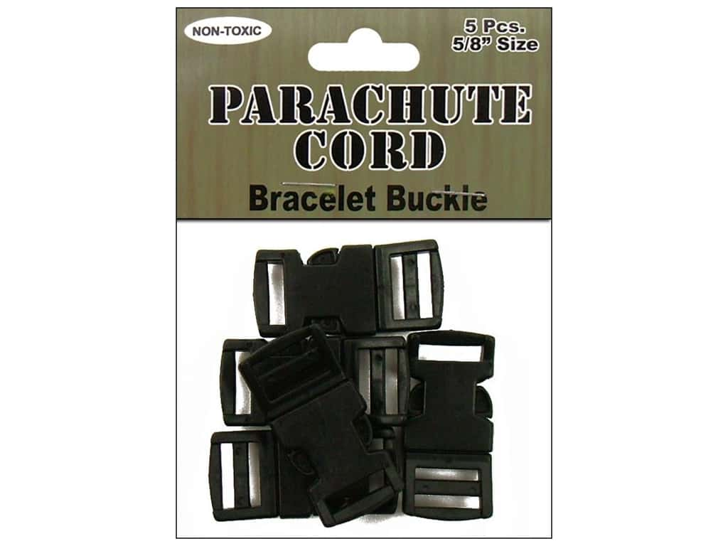 Pepperell Parachute Cord Bracelet Buckle 5/8 in. 5 pc