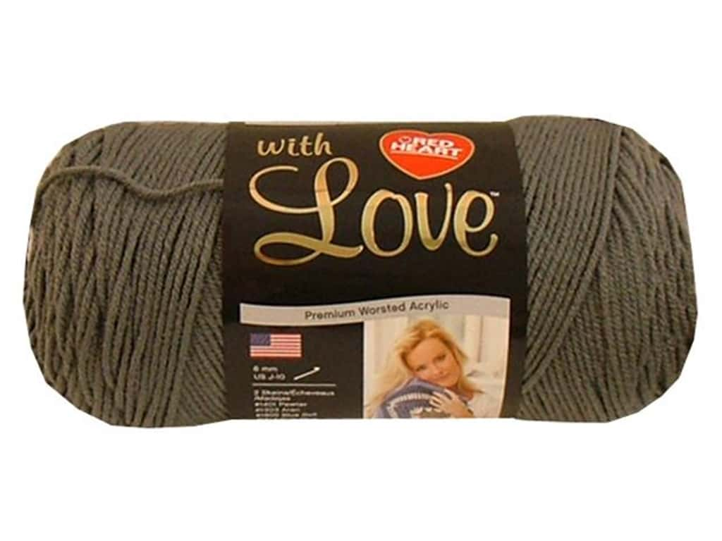 Red Heart With Love Yarn 370 yd. #1401 Pewter