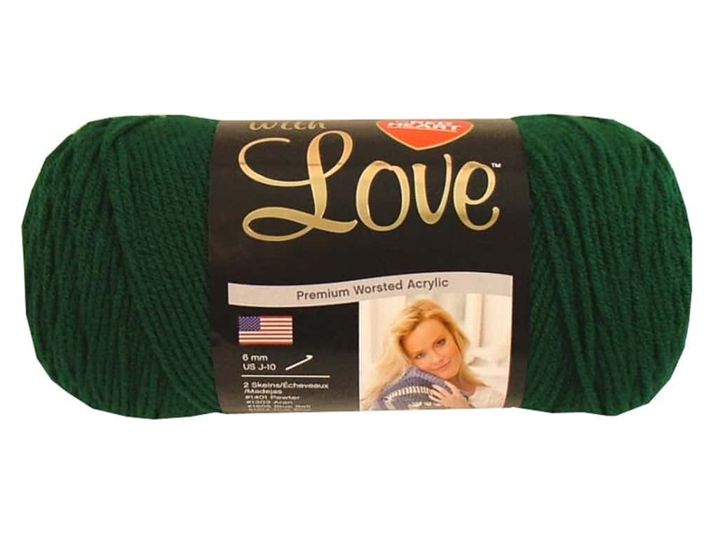 Red Heart With Love Yarn 370 yd. #1621 Evergreen