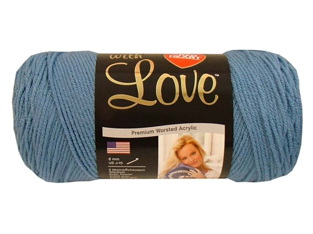 Red Heart With Love Yarn 370 yd. #1805 Bluebell