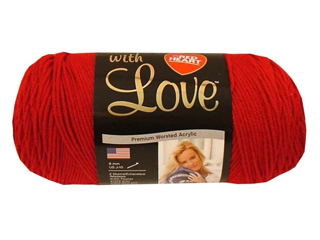 Red Heart With Love Yarn 370 yd. #1909 Holly Berry