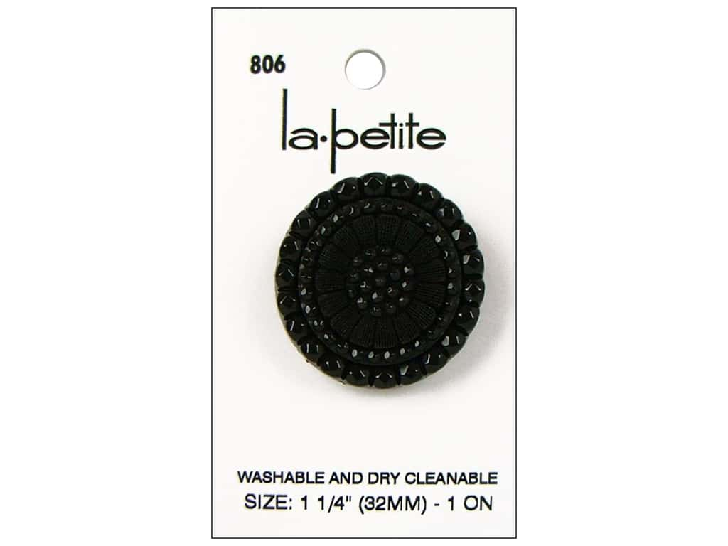 LaPetite Shank Buttons 1 1/4 in. Black #806 1pc.