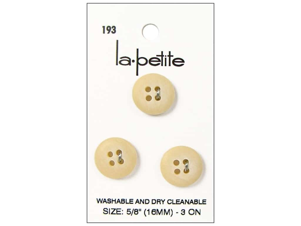 LaPetite 4 hole Buttons 5/8 in. Ivory #193 3pc.