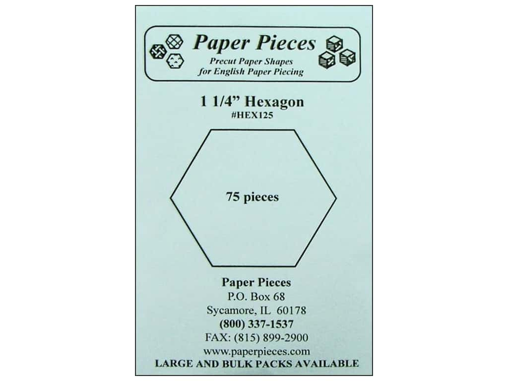 Paper Pieces Precut Paper Shapes Hexagon 1 1/4 in. 75 pc.