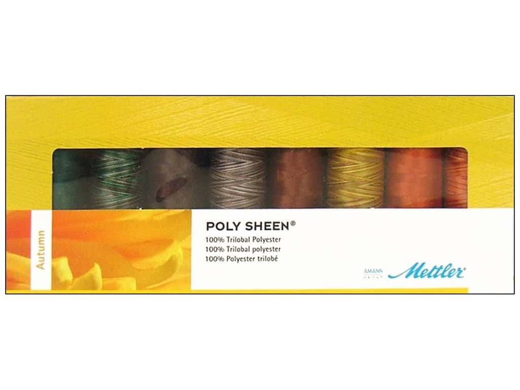 Mettler PolySheen Embroidery Thread Gift Set 8 pc. Autumn