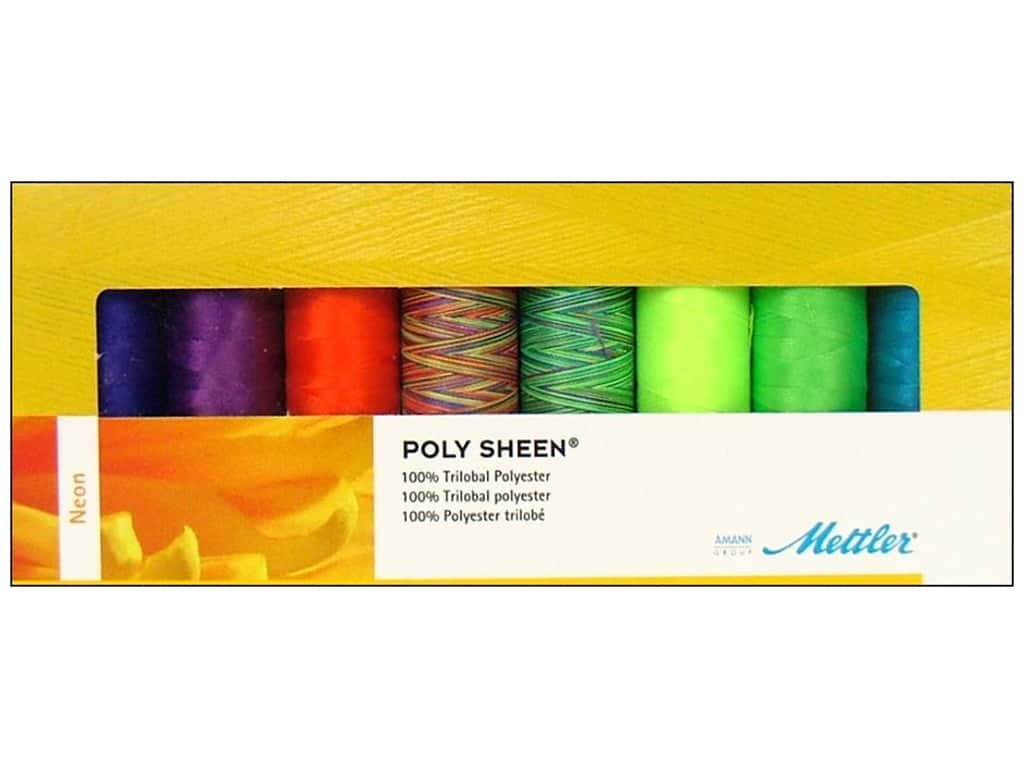 Mettler PolySheen Embroidery Thread Gift Set 8 pc. Neon