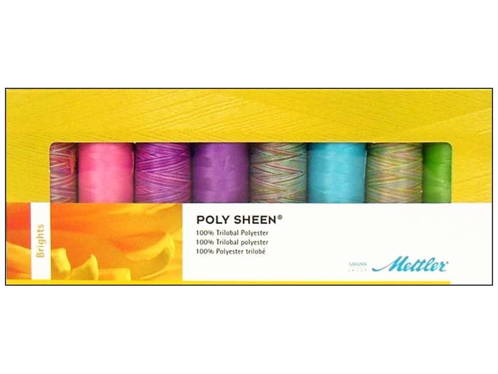 Mettler PolySheen Embroidery Thread Gift Set 8 pc. Brights
