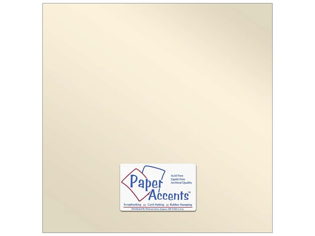 Paper Accents Pearlized Paper 12 x 12 in. #8821 Champagne 25 pc.