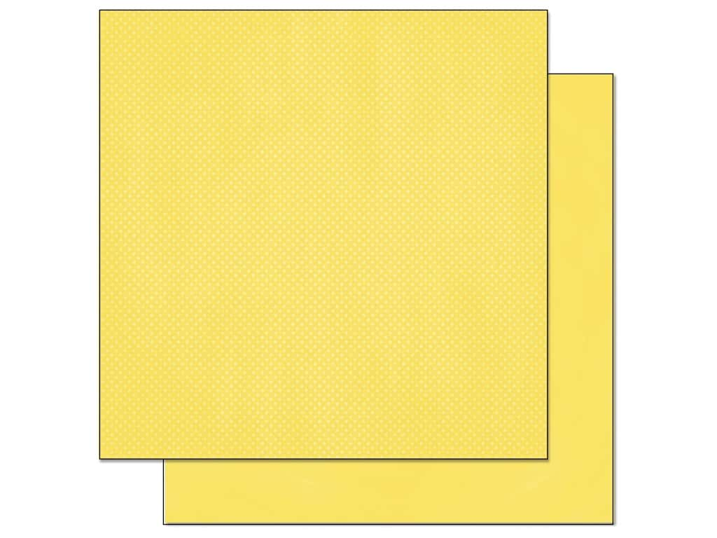 Bo Bunny 12 x 12 in. Paper Double Dot Collection Lemonade (25 sheets)