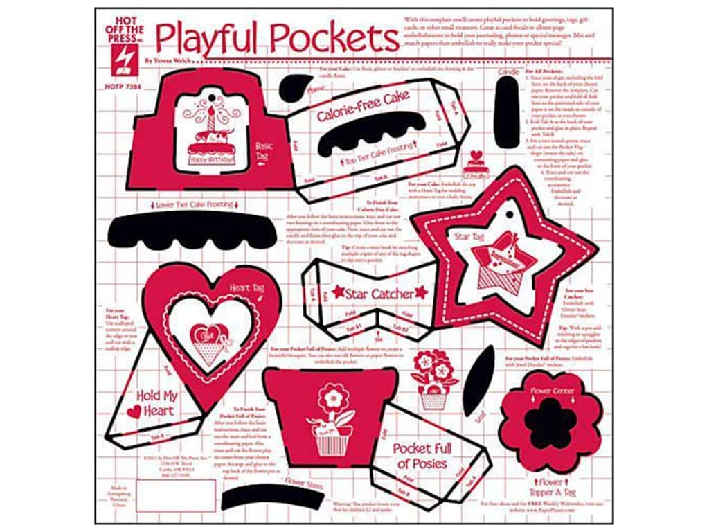 Hot Off The Press Templates Playful Pockets