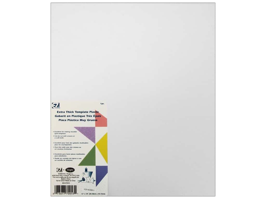 EZ Quilting Template Plastic 12 x 18 in. Extra Thick