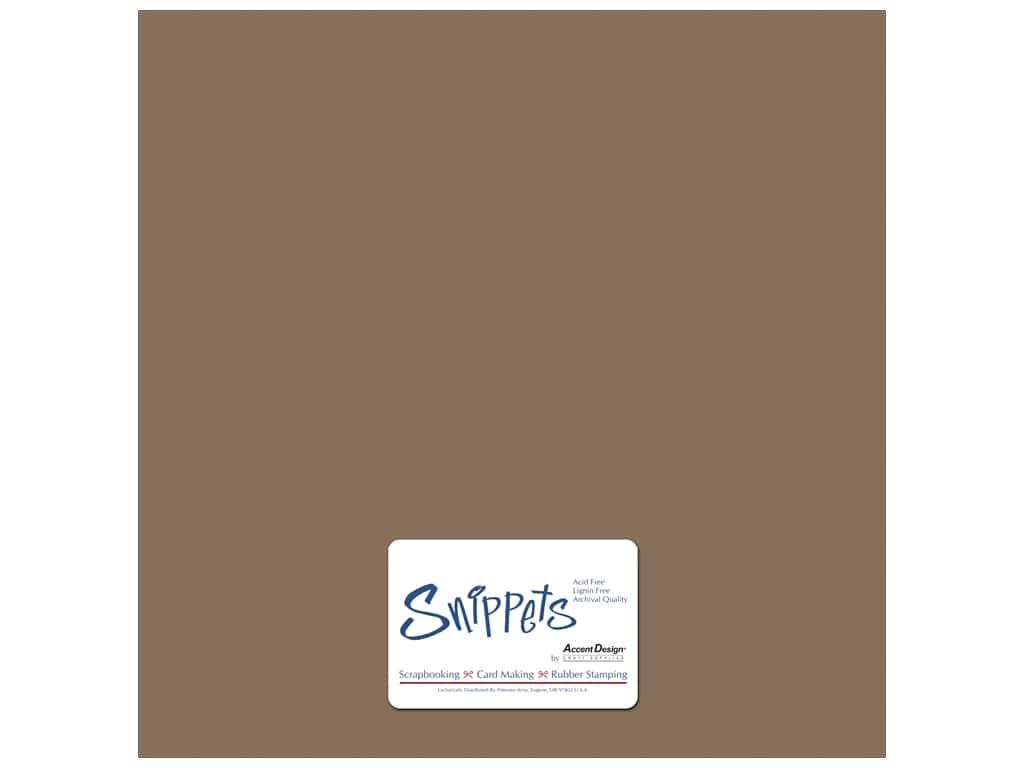 Paper Accents Cardstock 12 x 12 in. #357 Recycled Brown Bag 3 pc.