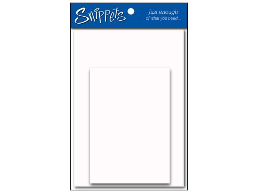 Paper Accents 4 1/4 x 5 1/2 in. Blank Card & Envelopes 3 pc. Glossy White