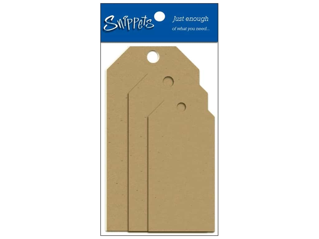 Craft Tags by Paper Accents Assorted Sizes 6 pc. Kraft