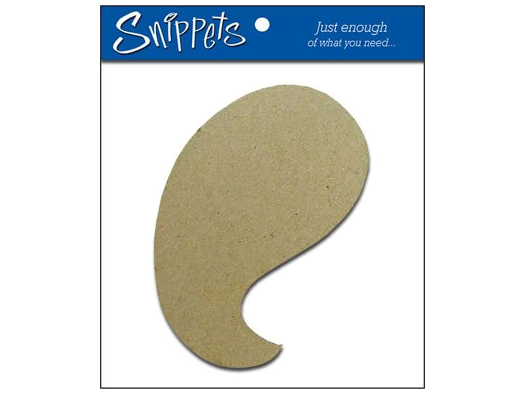 Paper Accents Chipboard Shape Paisley 3 pc. Natural