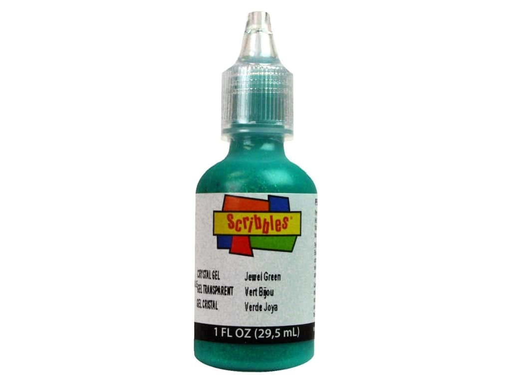 Scribbles 3D Fabric Paint 1 oz. Crystal Jewel Green