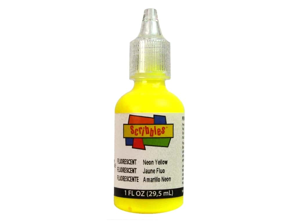 Scribbles 3D Fabric Paint 1 oz. Neon Yellow