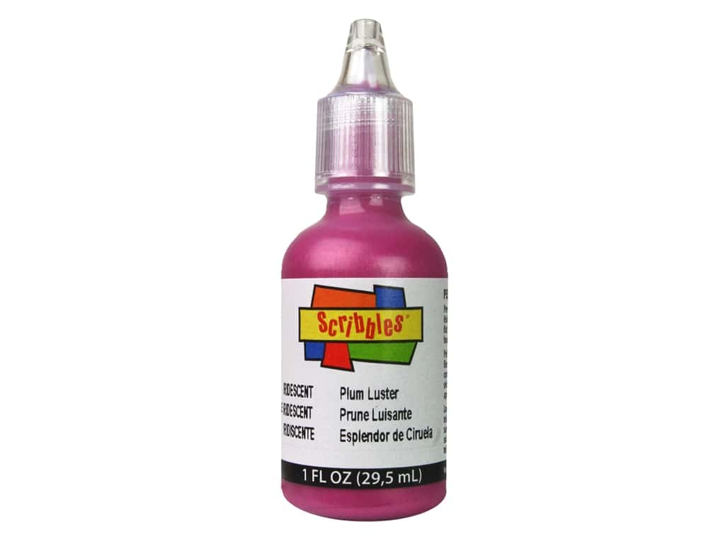 Scribbles 3D Fabric Paint 1 oz. Iridescent Plum Luster
