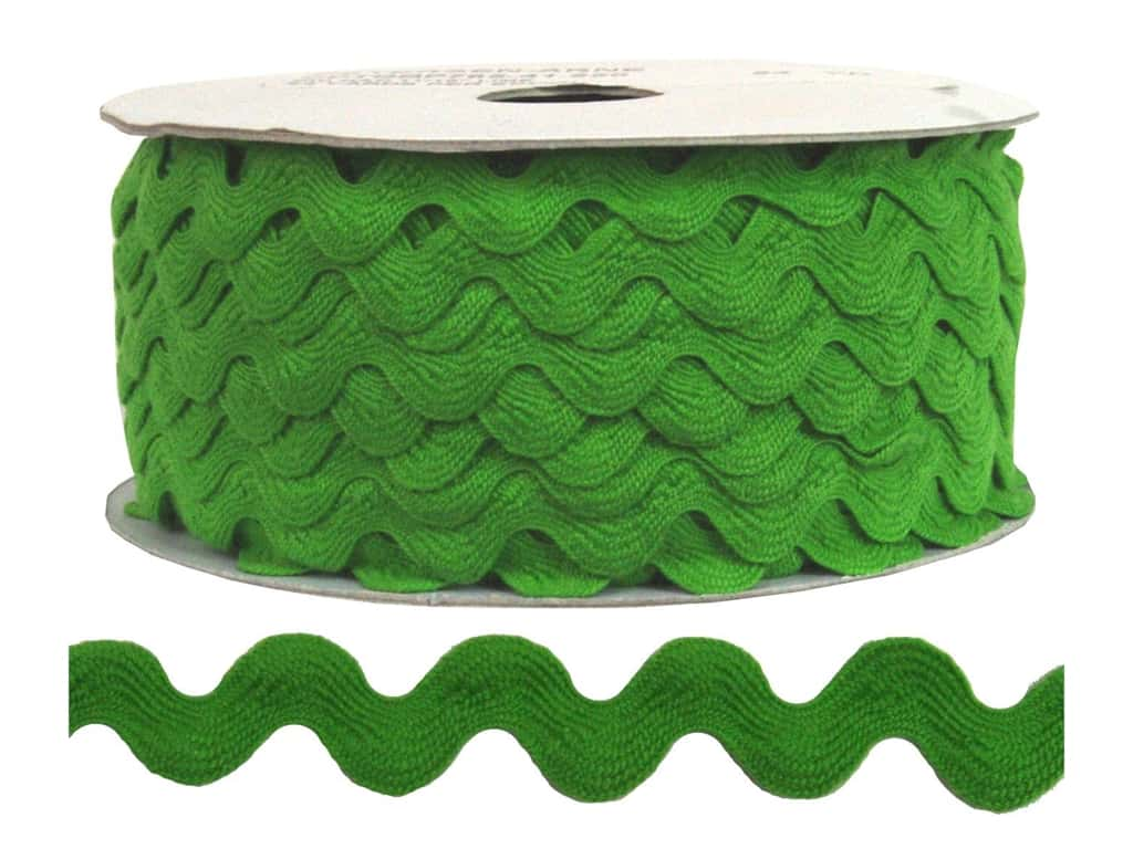 Cheep Trims Ric Rac 1/2 in. Lime (24 yards)