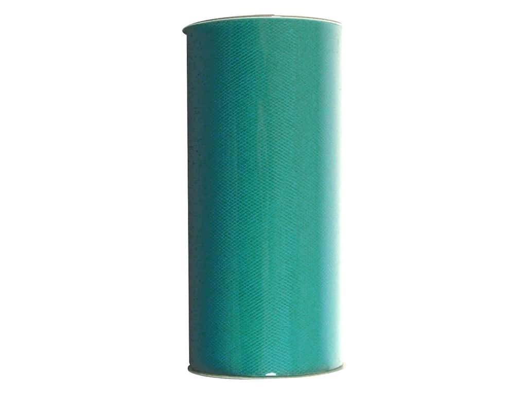 Darice Victoria Lynn Tulle 6 in. x 25 yd. Turquoise (25 yards)