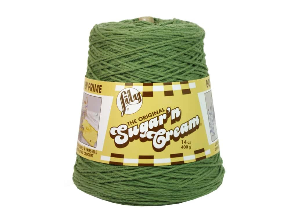Lily Sugar 'n Cream Yarn Cone 14 oz. #02084 Sage