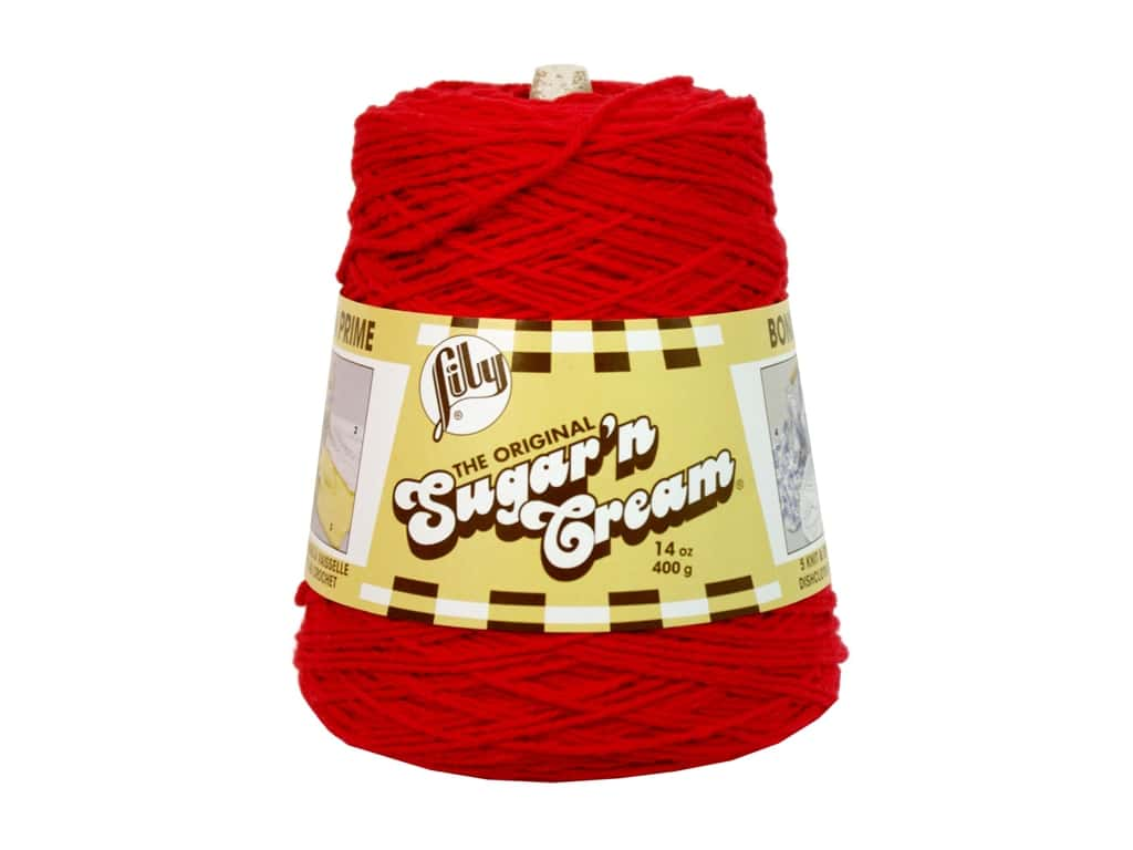 Lily Sugar 'n Cream Yarn Cone 14 oz. #02095 Red