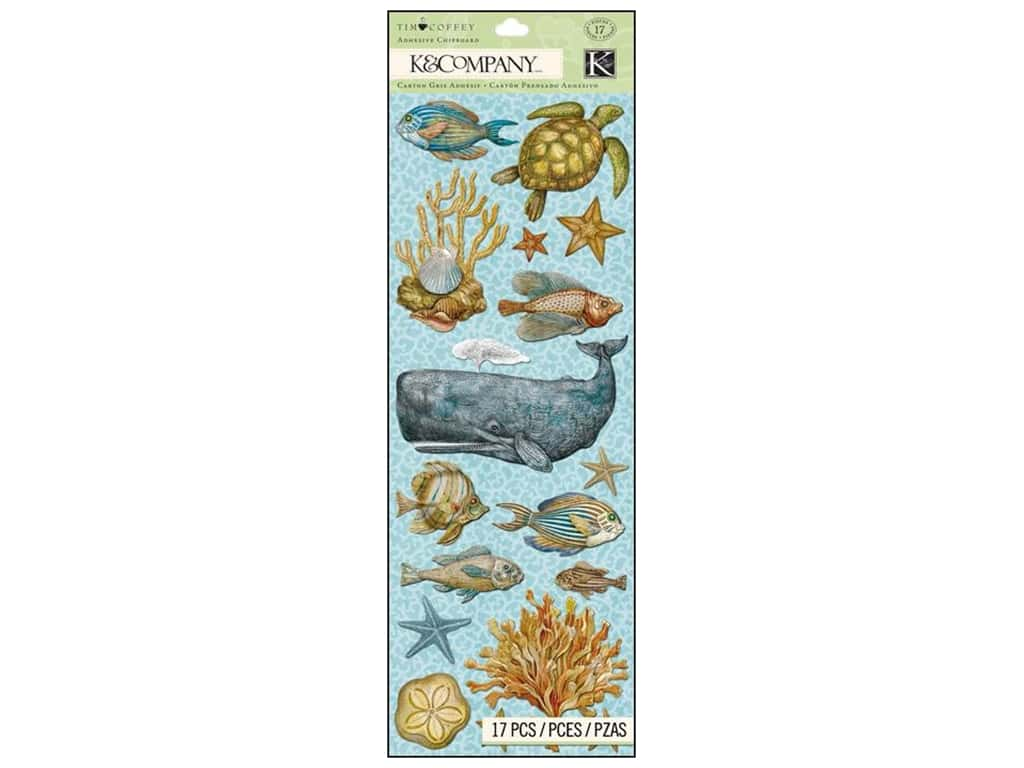 K&Company Adhesive Chipboard Tim Coffey Travel Sea