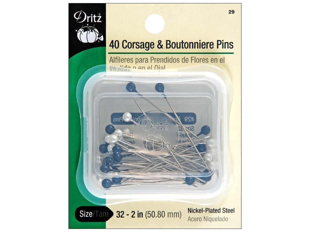 Corsage and Boutonniere Pins by Dritz Size 32 40 pc